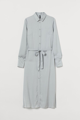 H&M Patterned Shirt Dress - Gray
