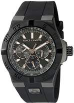 Vince Camuto Men's VC/1010GNBK The Master Multi-Function Black Silicone Strap Watch