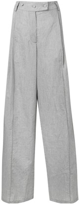 Maison Flaneur Wide-Leg Tailored Trousers