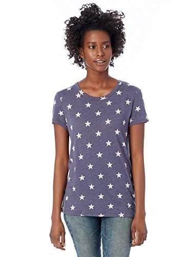 Alternative Women's Printed Ideal Short Sleeve Crew Neck Tee