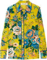 Diane von Furstenberg Printed Silk Crepe De Chine Shirt - Yellow