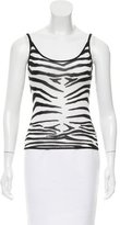 John Galliano Zebra Pattern Knit Top w/ Tags