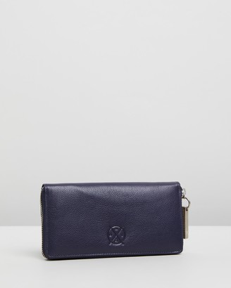 Stitch & Hide - Women's Navy Wallets - Christina Wallet - Size One Size at The Iconic