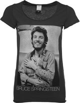 Amplified Womens Charcoal Bruce Springsteen Vintage T Shirt from