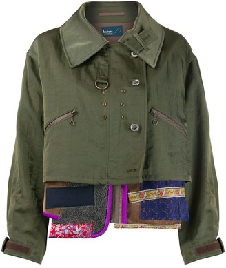 Kolor multi-panel deconstructed jacket