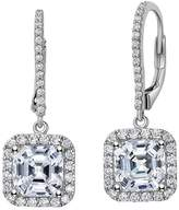 Lafonn Classic Sterling Silver Platinum Plated Lassire Simulated Diamond Earrings (4.95 CTTW)