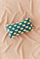 Urban Outfitters Diya Spotted Fringe Bolster Pillow