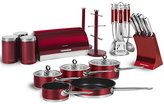 Morphy Richards Accents Kitchen Set, Red, 21-Piece