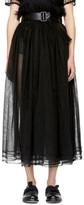 Noir Kei Ninomiya Black Gathered Tulle Skirt