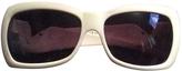 Valentino White Plastic Sunglasses