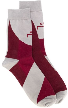 A-Cold-Wall* Logo Intarsia Mid-Calf Socks