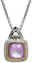 Lord & Taylor Quartz, Diamond and Sterling Silver Pendant Necklace