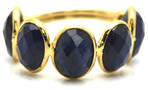 Tresor Collection - Blue Sapphire Oval Ring in 18kt Yellow Gold