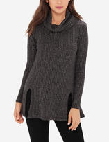 The Limited Ribbed Cowl Neck Tunic