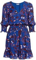 Parker Olympia Silk-Blend Floral Blouson Dress