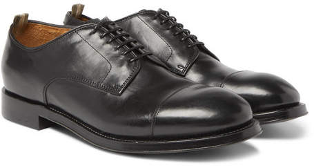 Officine Creative Williams Cap-Toe Polished-Leather Derby Shoes