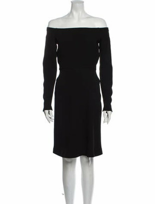 Narciso Rodriguez Off-The-Shoulder Mini Dress Black