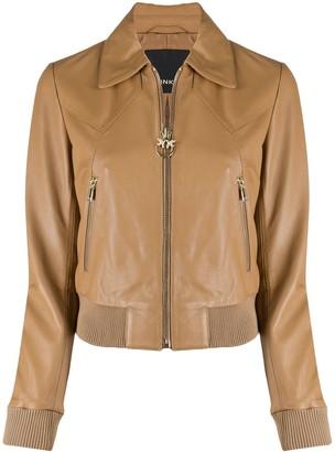 Pinko Zip-Up Sheepskin Jacket