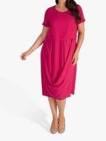Chesca chesca Classic Drape Dress, Lipstick