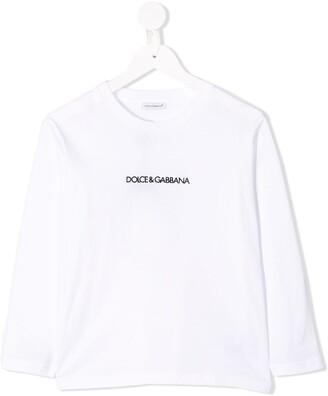 Dolce & Gabbana Logo Print Long-Sleeve Top