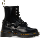 Thumbnail for your product : Dr. Martens Black 1460 Harness Boots
