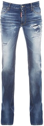 DSQUARED2 Stretch Cotton Denim Flared Jeans