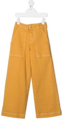 Molo Stretch-Cotton Wide Leg Trousers