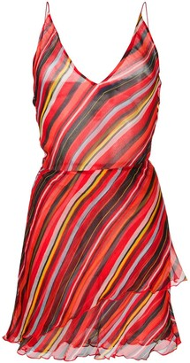 Giorgio Armani Pre Owned 1990s Striped Dress