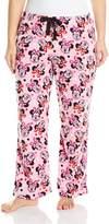 Disney Women's Ladies Fleece Pant Minnie Plus