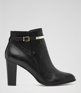 Reiss Mia ANKLE-STRAP LEATHER BOOTS