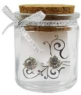 Fun Jewelry Bridesmaids Rhinestone Earrings in Glass Gift Jar