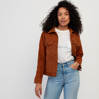 Roots Womens Trucker Jacket Suede