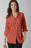 J. Jill Silk button-front shirt
