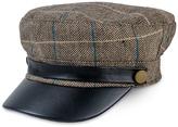Magid Brown Plaid Contrast-Brim Cadet Cap