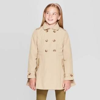 Cat & Jack Girls' Trench Coat Brown