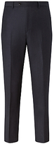 John Lewis Italian Super 110s Wool Milled Stripe Tailored Suit Trousers, Navy