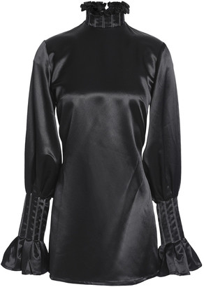 Beaufille Ruffle-trimmed Satin-crepe Blouse