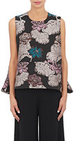 Co Women's Lilac-Pattern Jacquard Flared Top