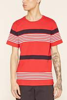 Forever 21 Striped Colorblock Tee