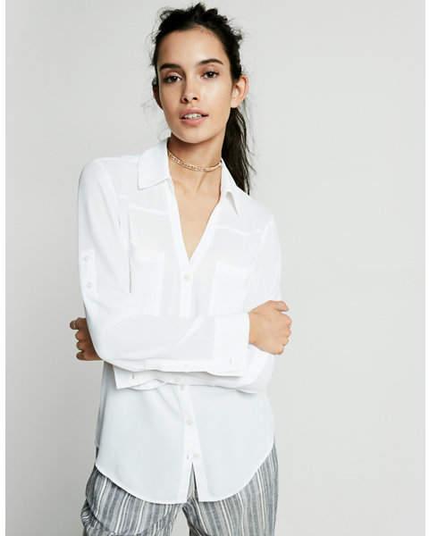 Express original fit convertible sleeve portofino shirt