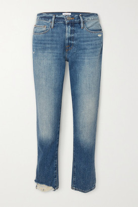 Frame Le Nouveau High-rise Straight-leg Jeans - Light denim