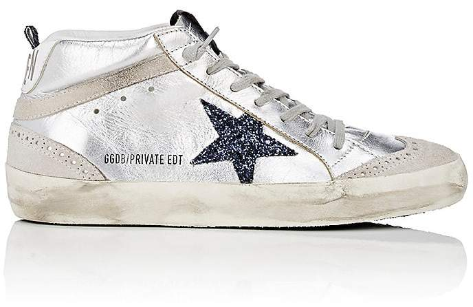 Golden Goose Women's Mid Star Metallic Leather Sneakers