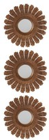Creative Co-Op Set Of 3 Sunburst Mirrors