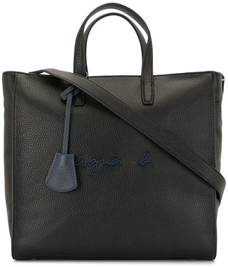 agnès b. Logo Embroidered Tote Bag