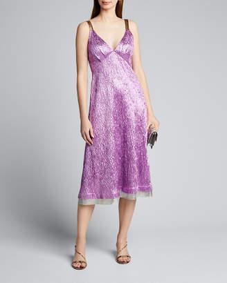 Rachel Comey Sala Sleeveless Jacquard Midi Cocktail Dress