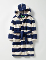 Dressing Gown Beacon Blue/Ecru Boys Boden