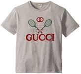 Gucci Kids Short Sleeve T-Shirt 586167XJBK2 (Little Kids/Big Kids) (Light Grey/Multicolor) Kid's Clothing