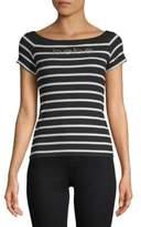 Bebe Chrissy Stripe Short-Sleeve Top