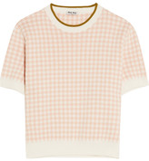 Miu Miu Intarsia Cotton Sweater - Blush