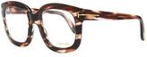 Tom Ford Oversize Square Fashion Glasses, Rose Golden